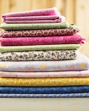 stack of colorful fabric