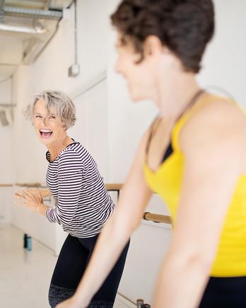older women exercising in class