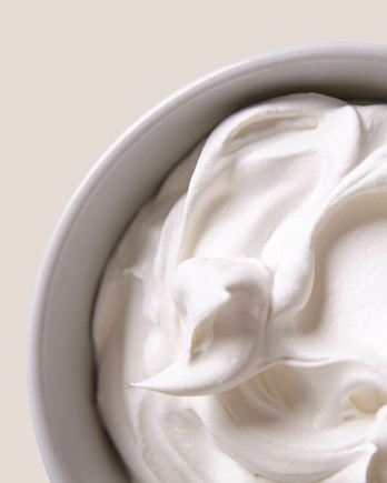 infused whipped cream in a bowl