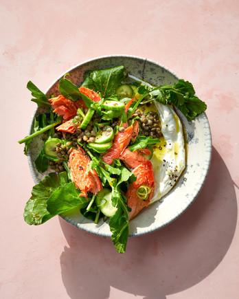 Curried Lentil-Salmon Salad