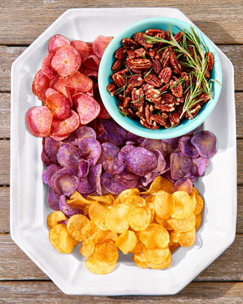 Red, White, and Blue Potato Chips