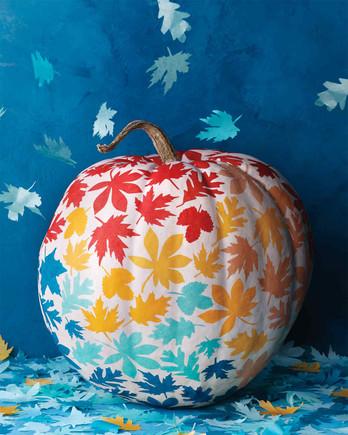 Decoupage Leaf Pumpkin
