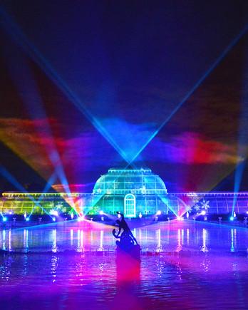 Kew Gardens Christmas light show at the Royal Botanic Gardens