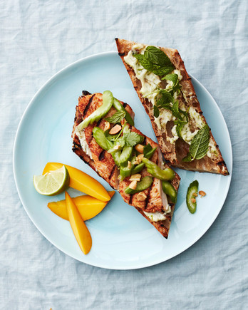 thai grilled chicken baguettes