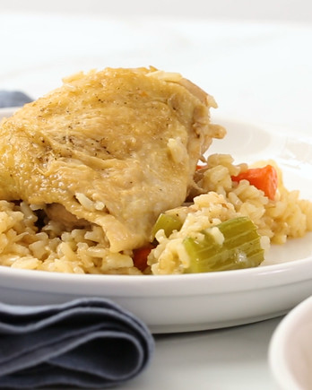 One-Pot Chicken and Brown Rice Video EH
