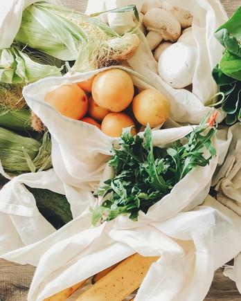 zero waste groceries reusable bag