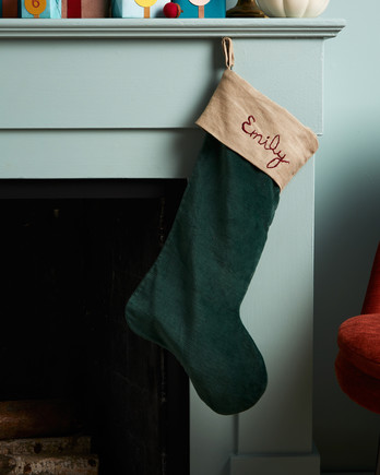 mantle blue wall stocking