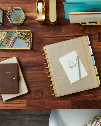 staples gold workspace desk organization merch