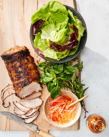 grilled pork loin with lemongrass