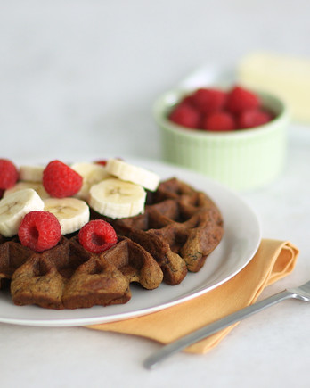 Peanut Butter Banana Waffles Video EDFSC