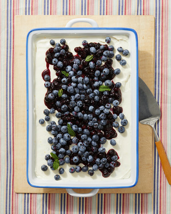 no-bake ricotta blueberry cheesecake