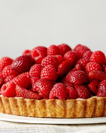 red fruit tart martha bakes raspberries strawberries
