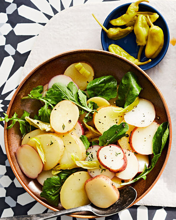 balsamic potato salad with tuscan ribs