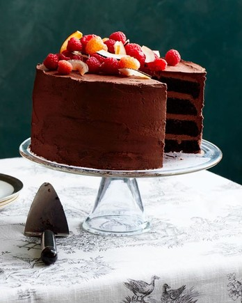 dairy-free chocolate-raspberry cake and fortified wines