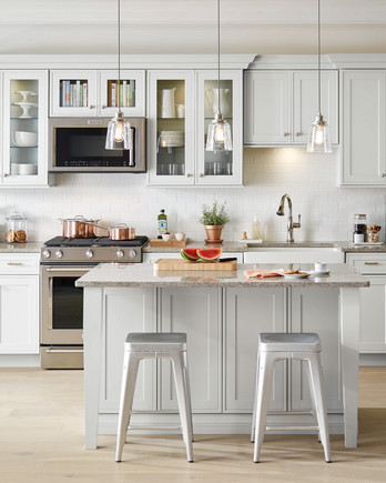 home depot select kitchen style light gray cabinets