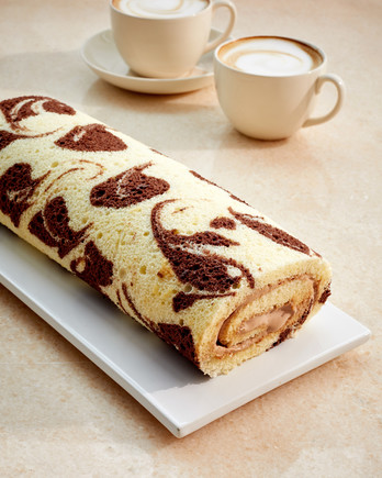 marbelized roulade martha bakes patterned tea