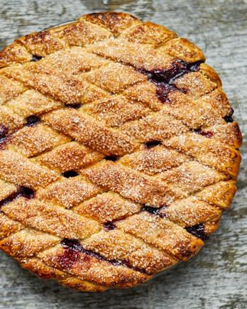 blueberry lattice pie martha bakes