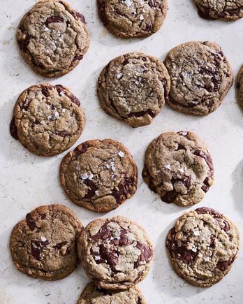 sea salt buckwheat chocolate chip cookies