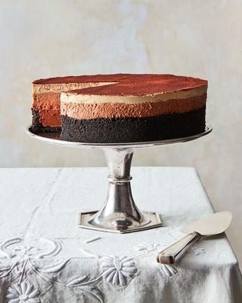 mile high triple chocolate espresso mousse pie