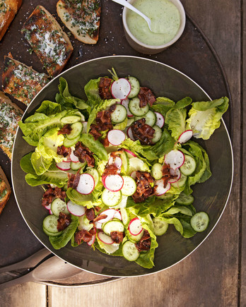 Butter-Lettuce Salad With Avocado-Buttermilk Dressing