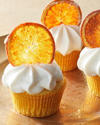 orange curd cupcakes martha bakes gold plate