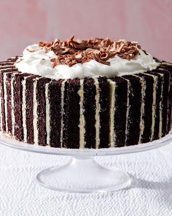 triple ice cream cake chocolate martha bakes
