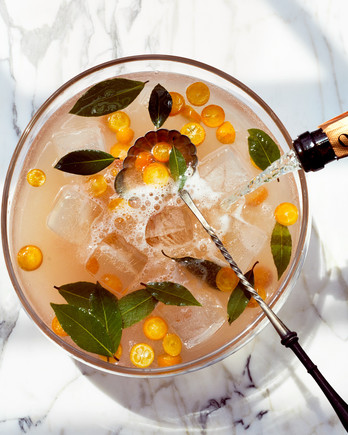 Pink Grapefruit-White Cranberry Sparkling Punch recipe