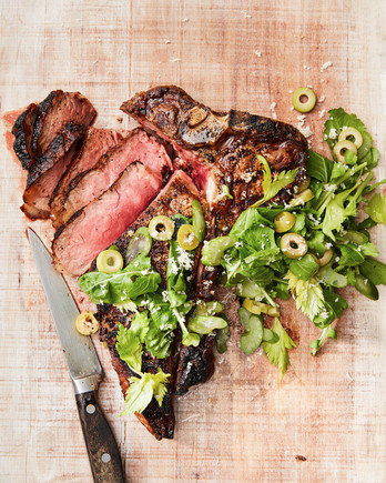 grilled porterhouse with brown butter and horseradish
