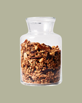 Honey-Peanut Granola with Coconut & Dried Cherries recipe