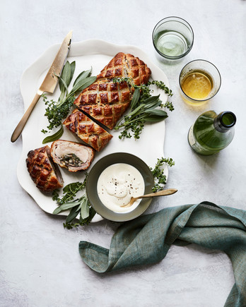 pork wellington with prosciutto and spinach mushroom stuffing