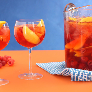 Raspberry and Mango Sangria