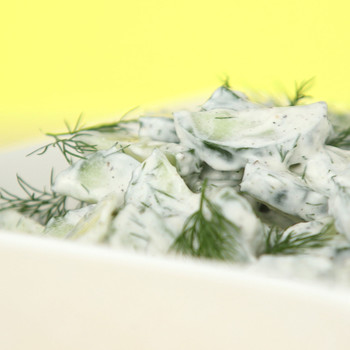 Cucumber Salad with Sour Cream & Dill