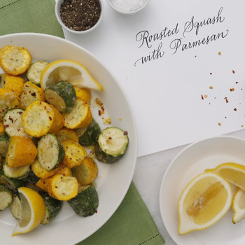 Simple Roasted Squash with Parmesan