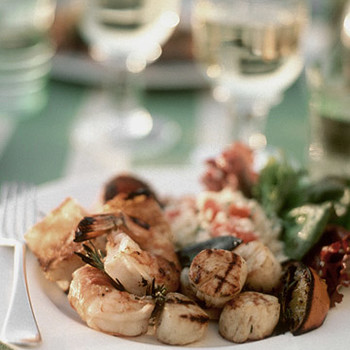 Grilled Scallop and Orange Skewers