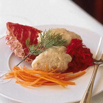 Gefilte Fish with Fresh Beet Horseradish