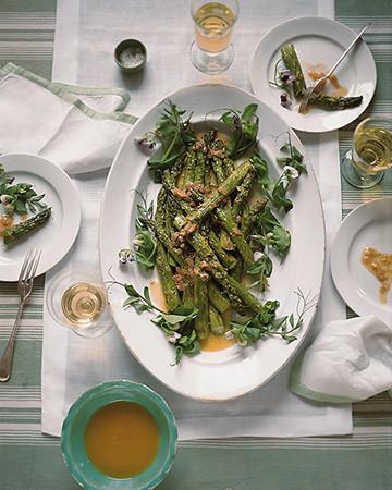 Grilled Asparagus with Caramelized Shallot Vinaigrette