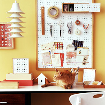 Construct an Office Organizer Out of Pegboard