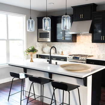 3 Gorgeous Ways to Soften Black Kitchen Cabinets