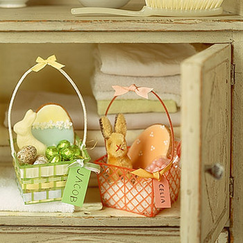 Recycled and Decorated Berry Baskets