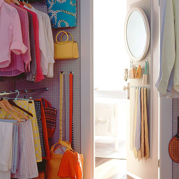 Use Pegboard in the Closet
