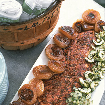 Spice-Rubbed Grilled Salmon