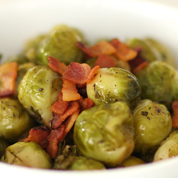 Brown-Sugar-and-Bacon-Glazed Brussels Sprouts Video