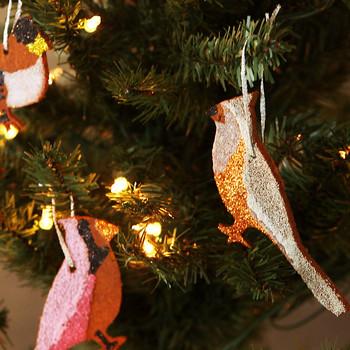 Cinnamon Bird Christmas Ornaments