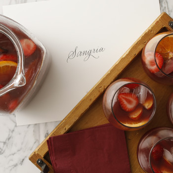 Sangria with Fresh Peaches and Apricots