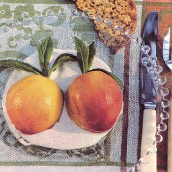Fresh Peaches with Cinnamon Creme Fraiche