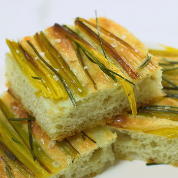 Watch: How to make Onion-and-Leek Focaccia