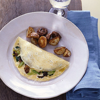 Morel And Scallion Omelet