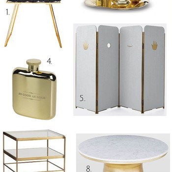 Home Decorating Ideas with Bling: Turning the Gold and Brass Trend into Timeless Decor