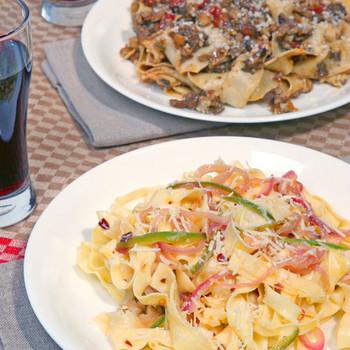 Mario Batali S Tagliatelle With Mushroom Ragu Martha Stewart