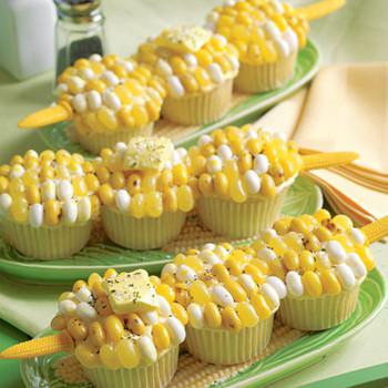 Corn-on-the-Cob Cupcake